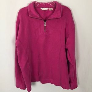 Tommy Bahama 3/4 zip pullover medium G1